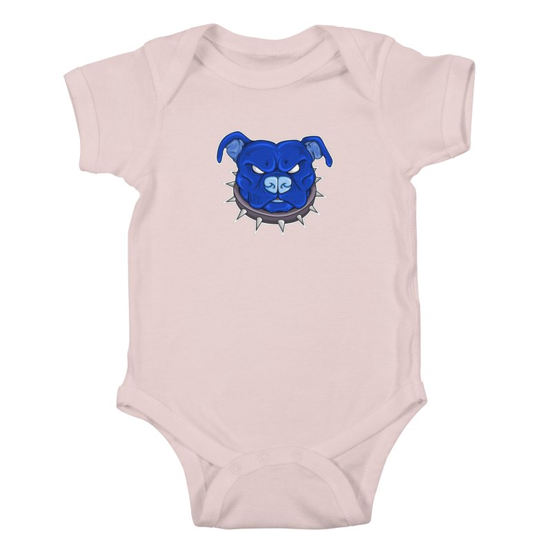 Tenacious Danger - Pit Bull Head Logo Kids Baby Bodysuit by Tenacious Toys Apparel Collection