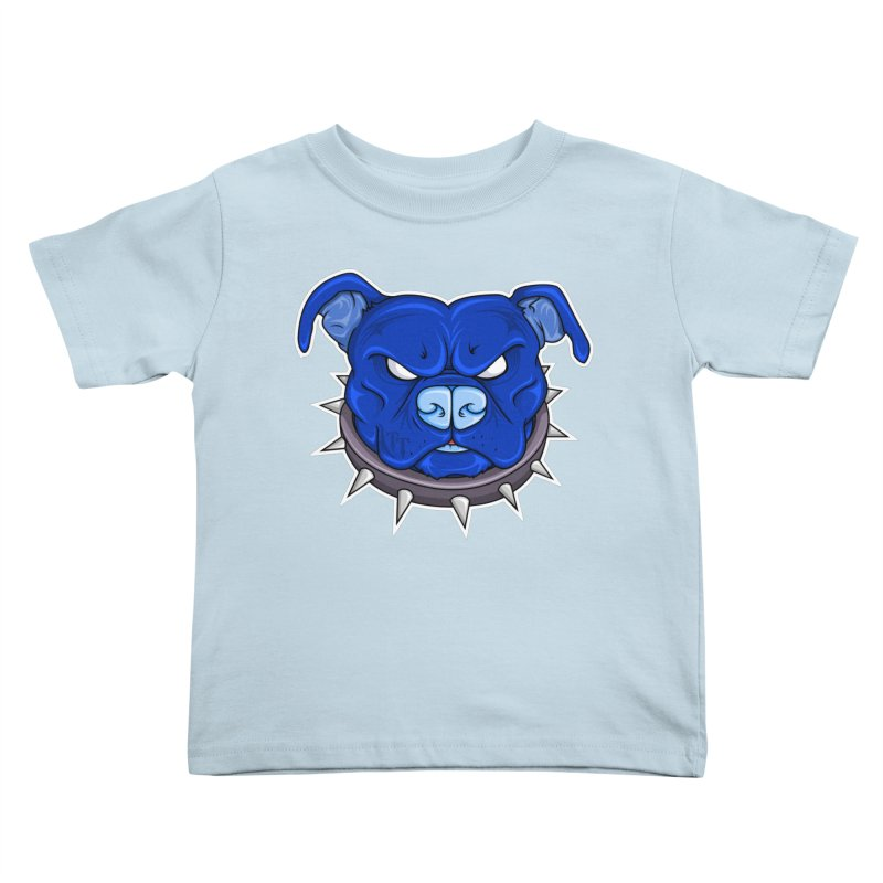 Tenacious Danger - Pit Bull Head Logo Kids Toddler T-Shirt by Tenacious Toys Apparel Collection