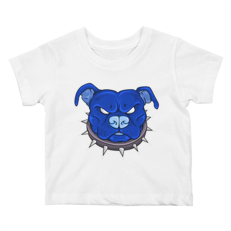 Tenacious Danger - Pit Bull Head Logo Kids Baby T-Shirt by Tenacious Toys Apparel Collection