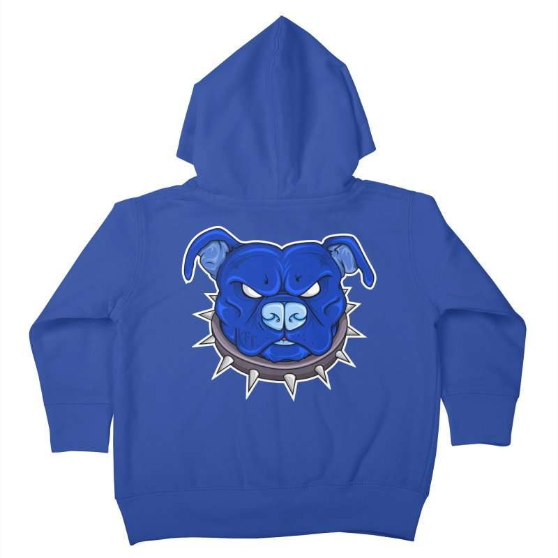 Tenacious Danger - Pit Bull Head Logo Kids Toddler Zip-Up Hoody by Tenacious Toys Apparel Collection