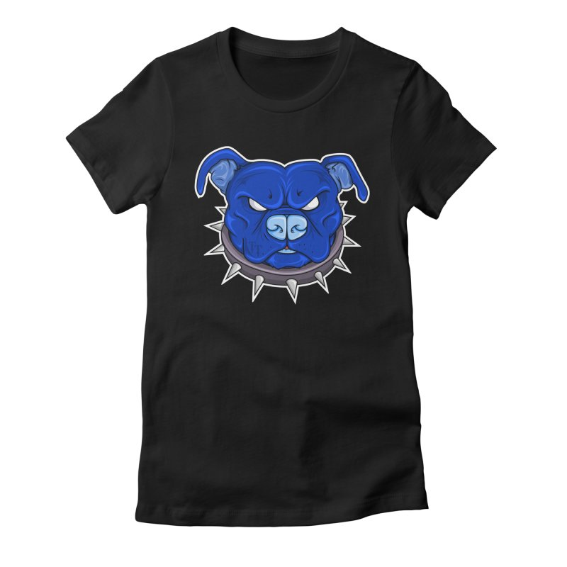 Tenacious Danger - Pit Bull Head Logo Women's Fitted T-Shirt by Tenacious Toys Apparel Collection
