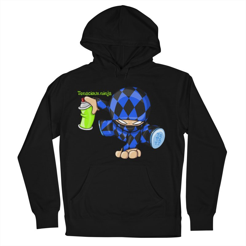 Tenacious Ninja Blog Logo Men's French Terry Pullover Hoody by Tenacious Toys Apparel Collection
