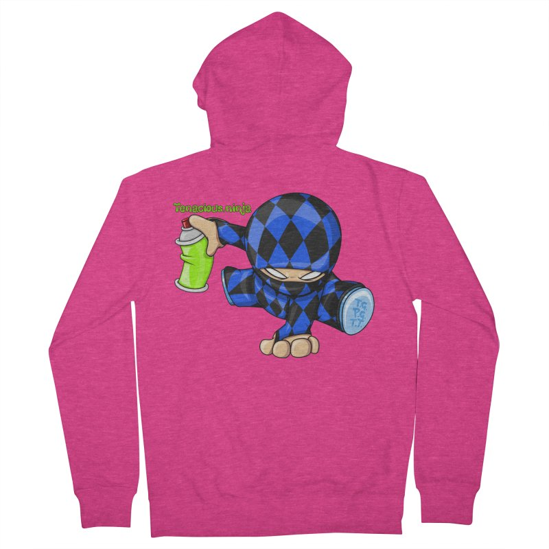 Tenacious Ninja Blog Logo Women's French Terry Zip-Up Hoody by Tenacious Toys Apparel Collection