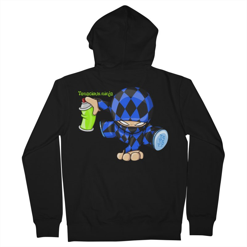 Tenacious Ninja Blog Logo Men's French Terry Zip-Up Hoody by Tenacious Toys Apparel Collection