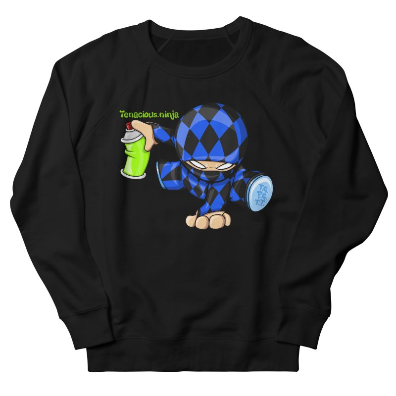 Tenacious Ninja Blog Logo Men's French Terry Sweatshirt by Tenacious Toys Apparel Collection