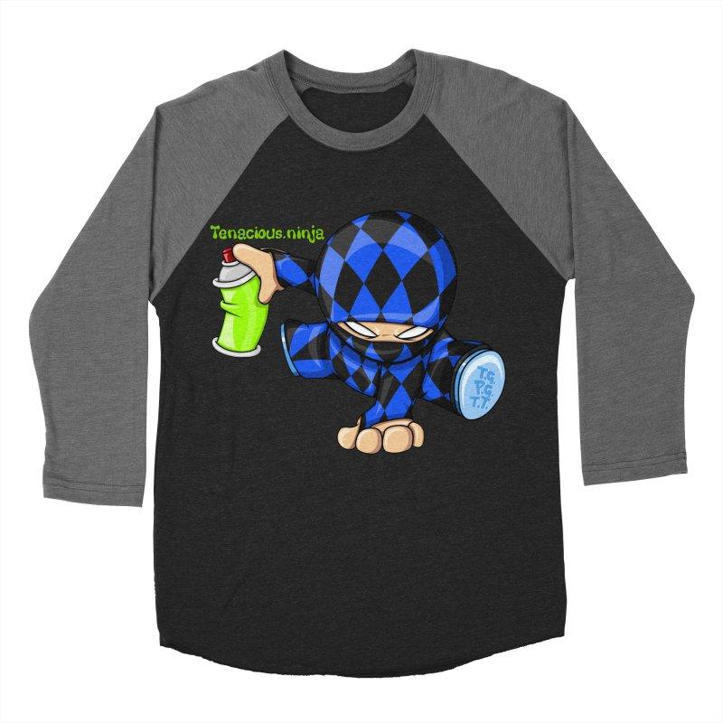 Tenacious Ninja Blog Logo Men's Baseball Triblend Longsleeve T-Shirt by Tenacious Toys Apparel Collection
