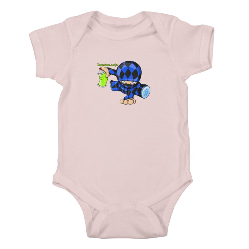 Tenacious Ninja Blog Logo Kids Baby Bodysuit by Tenacious Toys Apparel Collection