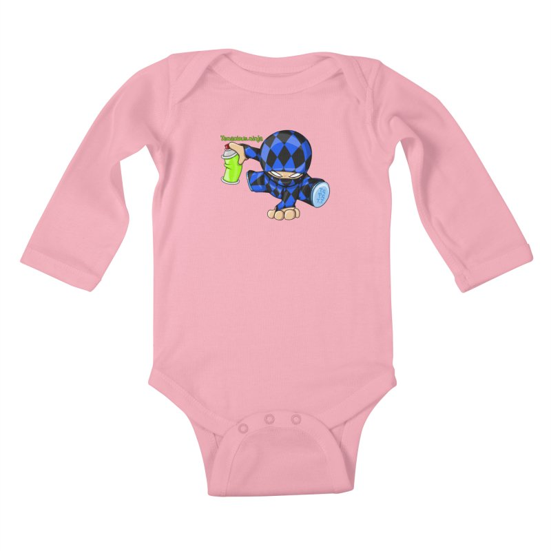 Tenacious Ninja Blog Logo Kids Baby Longsleeve Bodysuit by Tenacious Toys Apparel Collection