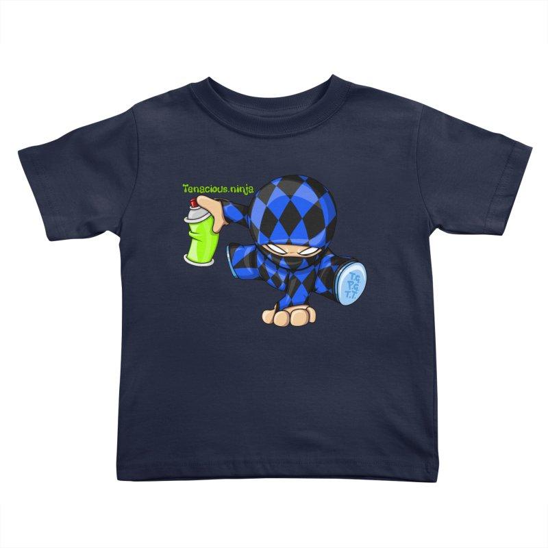 Tenacious Ninja Blog Logo Kids Toddler T-Shirt by Tenacious Toys Apparel Collection