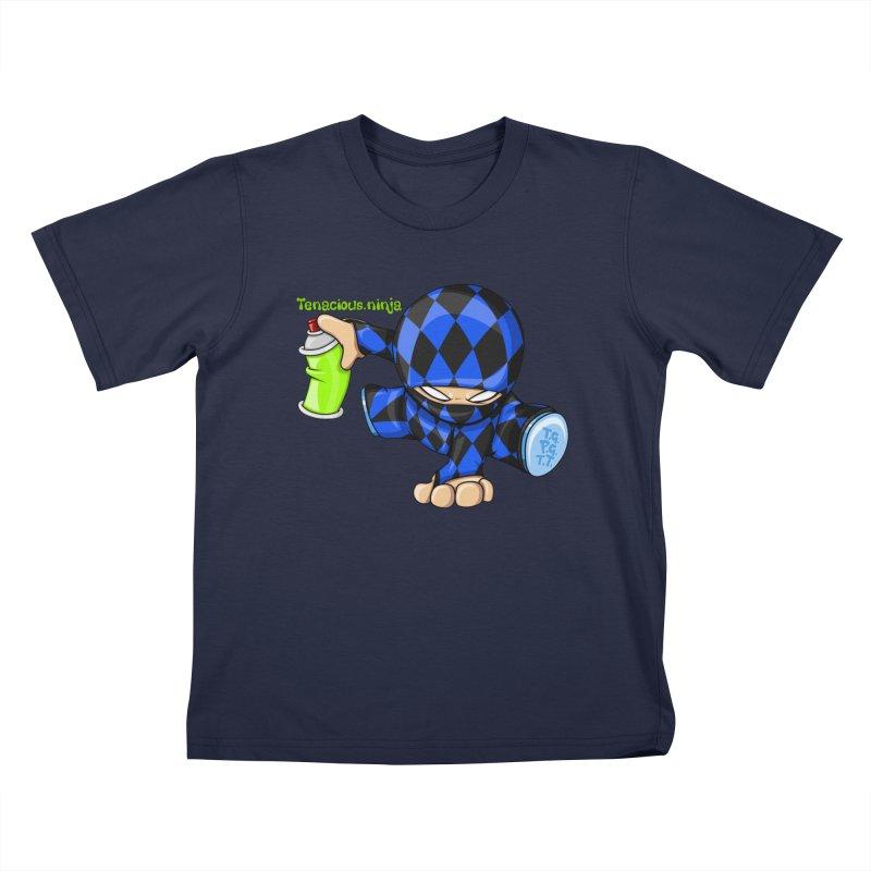 Tenacious Ninja Blog Logo Kids T-Shirt by Tenacious Toys Apparel Collection