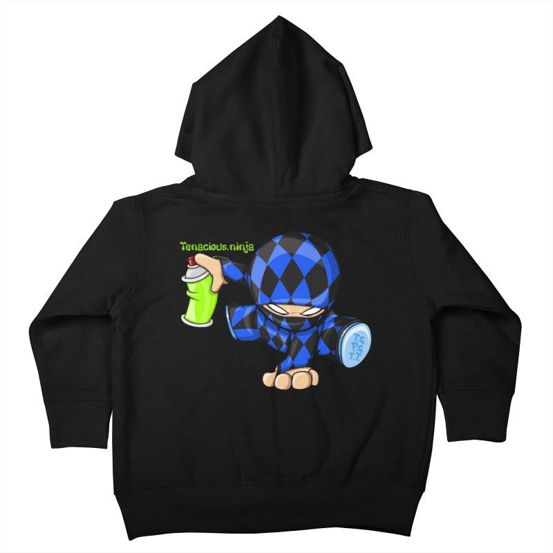 Tenacious Ninja Blog Logo Kids Toddler Zip-Up Hoody by Tenacious Toys Apparel Collection