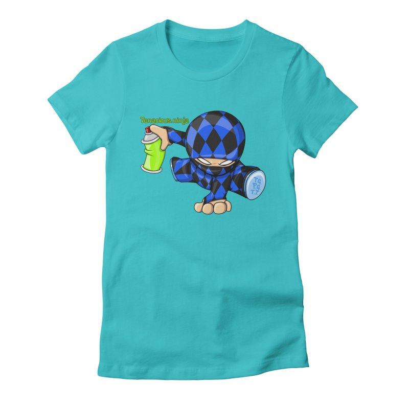 Tenacious Ninja Blog Logo Women's Fitted T-Shirt by Tenacious Toys Apparel Collection