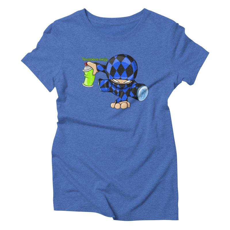Tenacious Ninja Blog Logo Women's Triblend T-Shirt by Tenacious Toys Apparel Collection