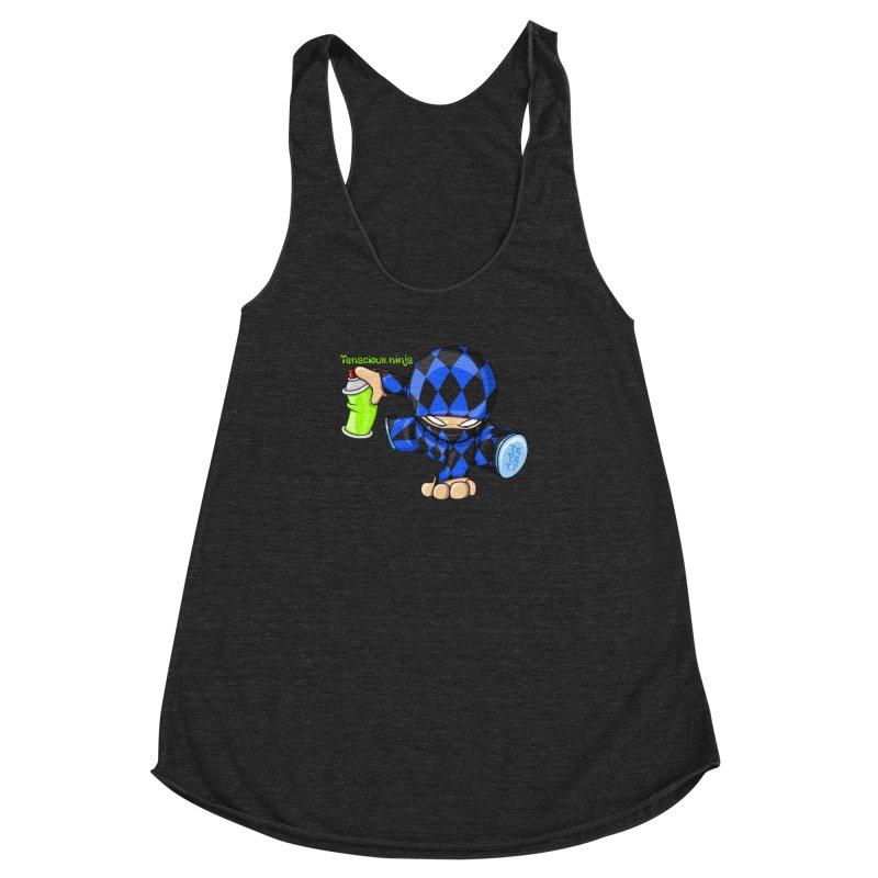 Tenacious Ninja Blog Logo Women's Racerback Triblend Tank by Tenacious Toys Apparel Collection