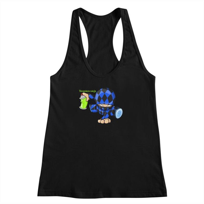 Tenacious Ninja Blog Logo Women's Racerback Tank by Tenacious Toys Apparel Collection