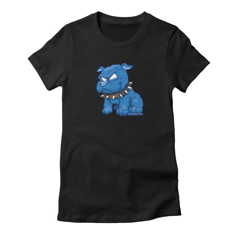 Danger Dog by Willie Beren Women's Fitted T-Shirt by Tenacious Toys Apparel Collection
