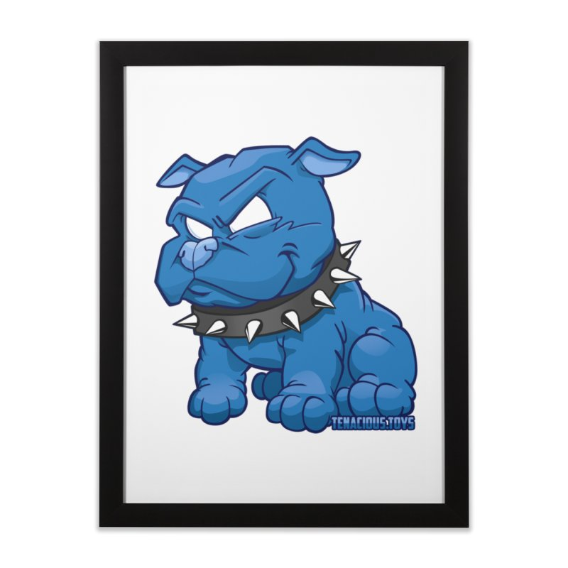 Danger Dog by Willie Beren Home Framed Fine Art Print by Tenacious Toys Apparel Collection