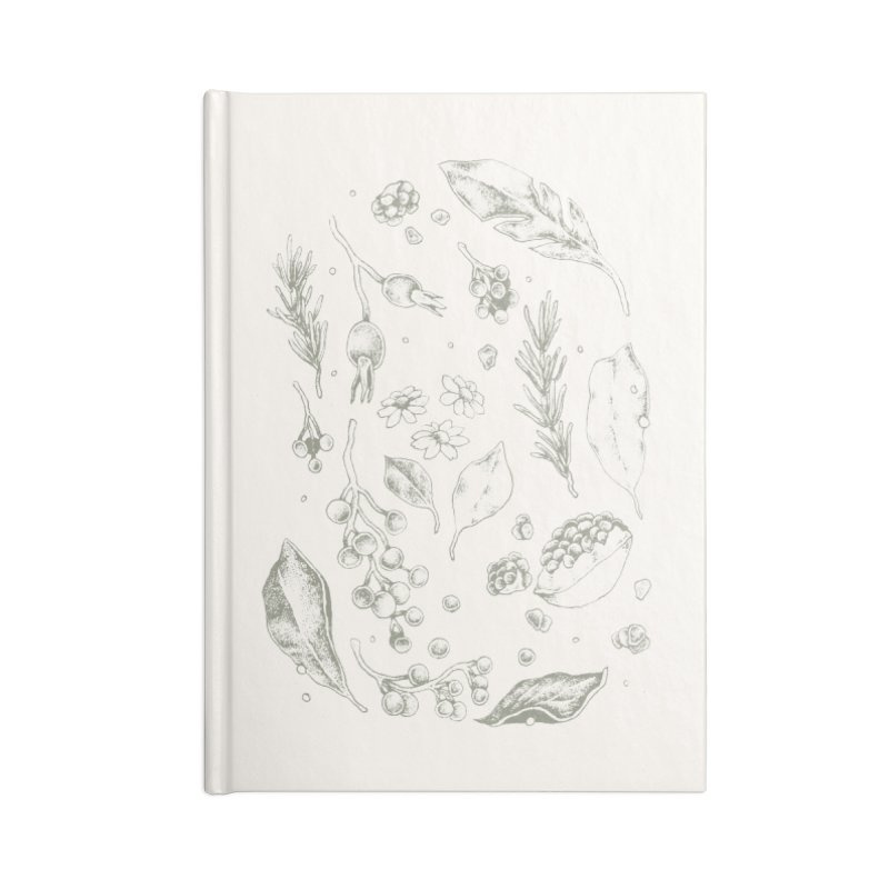 Apothecary Accessories Blank Journal Notebook by Tenderheart Studio