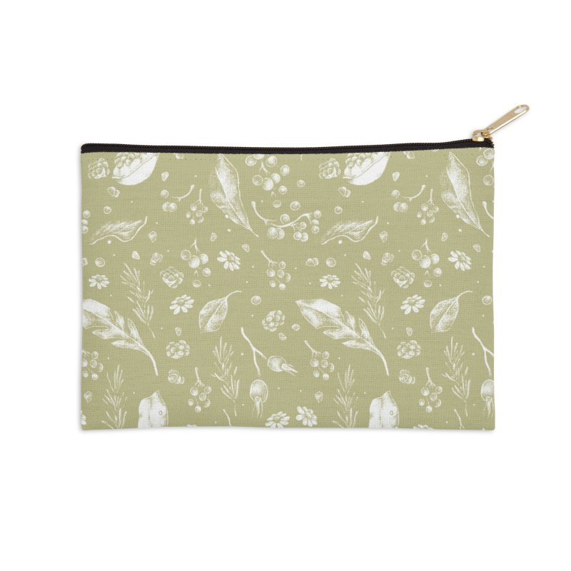 Apothecary Pattern Accessories Zip Pouch by Tenderheart Studio