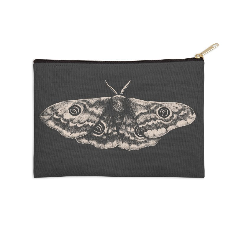Emperor Moth Accessories Zip Pouch by Tenderheart Studio