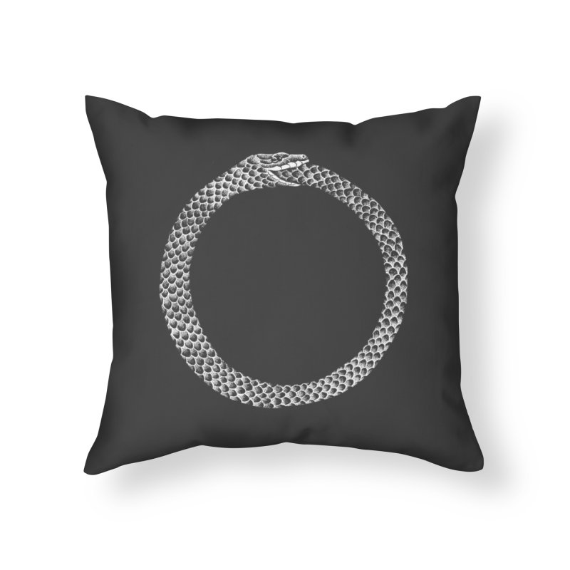 Ouroboros Home Throw Pillow by Tenderheart Studio