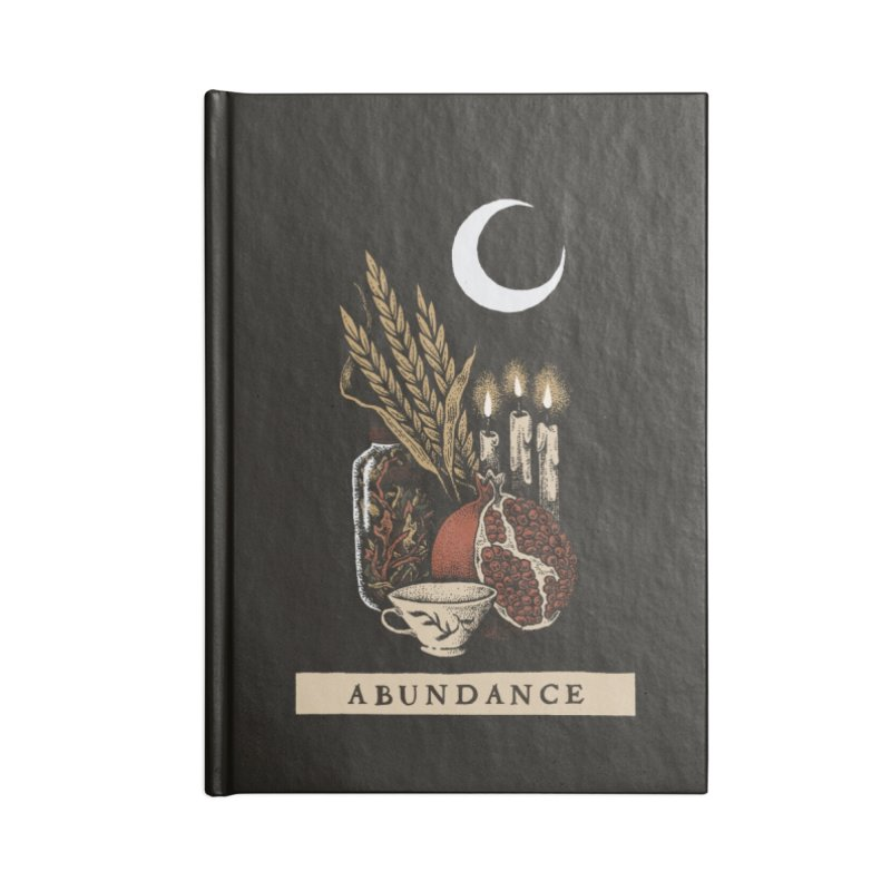 Abundance Accessories Blank Journal Notebook by Tenderheart Studio