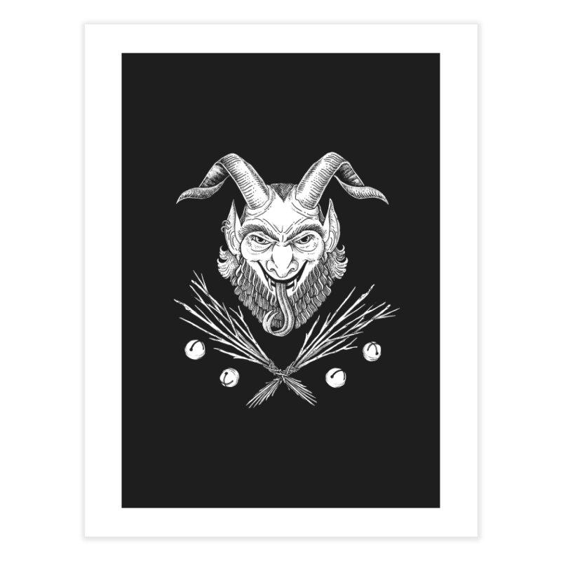 Krampus Home Fine Art Print by Tenderheart Studio