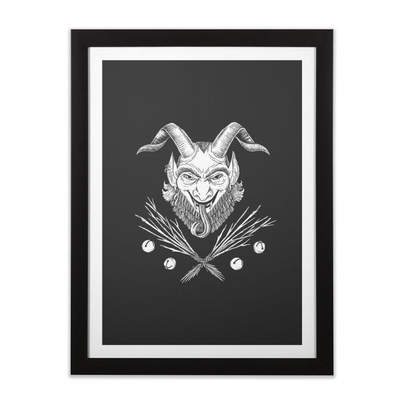 Krampus Home Framed Fine Art Print by Tenderheart Studio