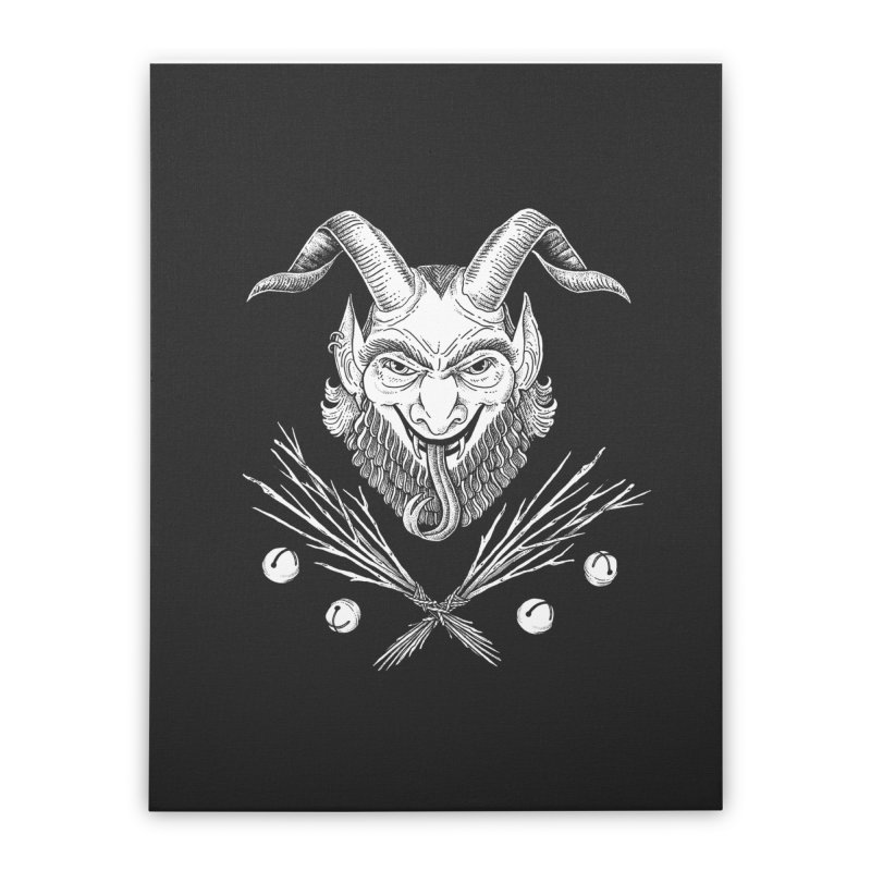 Krampus Home Stretched Canvas by Tenderheart Studio