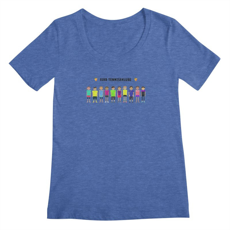 tennis team Women's Scoopneck by tennis's Artist Shop