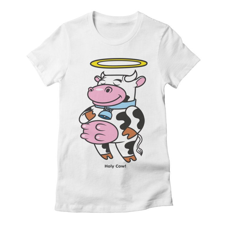 Holy Cow! Women's Fitted T-Shirt by Tentimeskarma