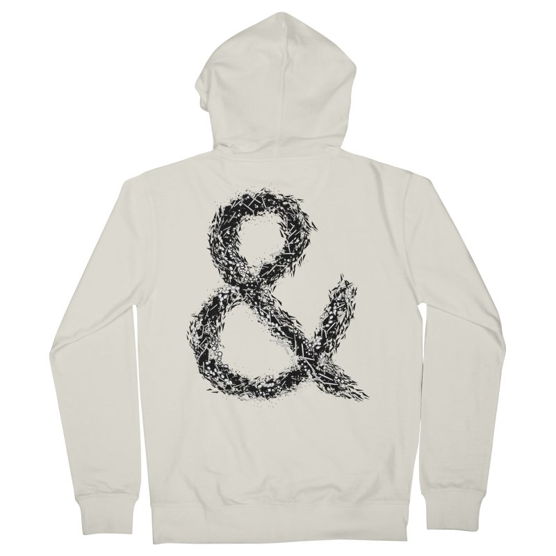Ampersand Men's Zip-Up Hoody by Tentimeskarma
