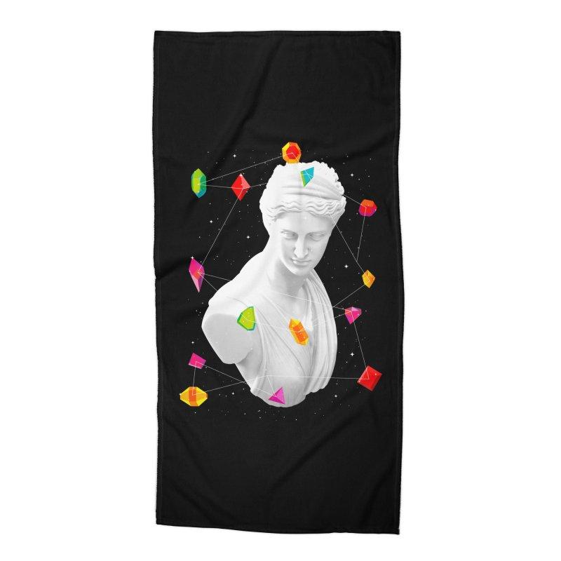 Geometric Gods Accessories Beach Towel by Tentimeskarma