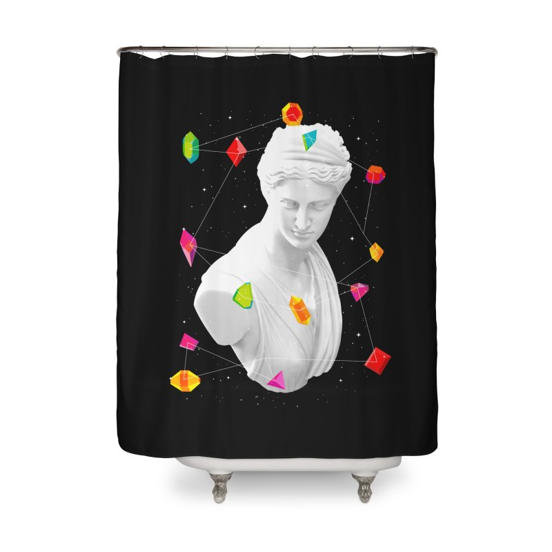Geometric Gods Home Shower Curtain by Tentimeskarma