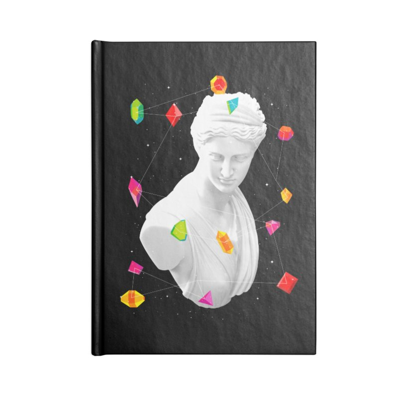 Geometric Gods Accessories Lined Journal Notebook by Tentimeskarma