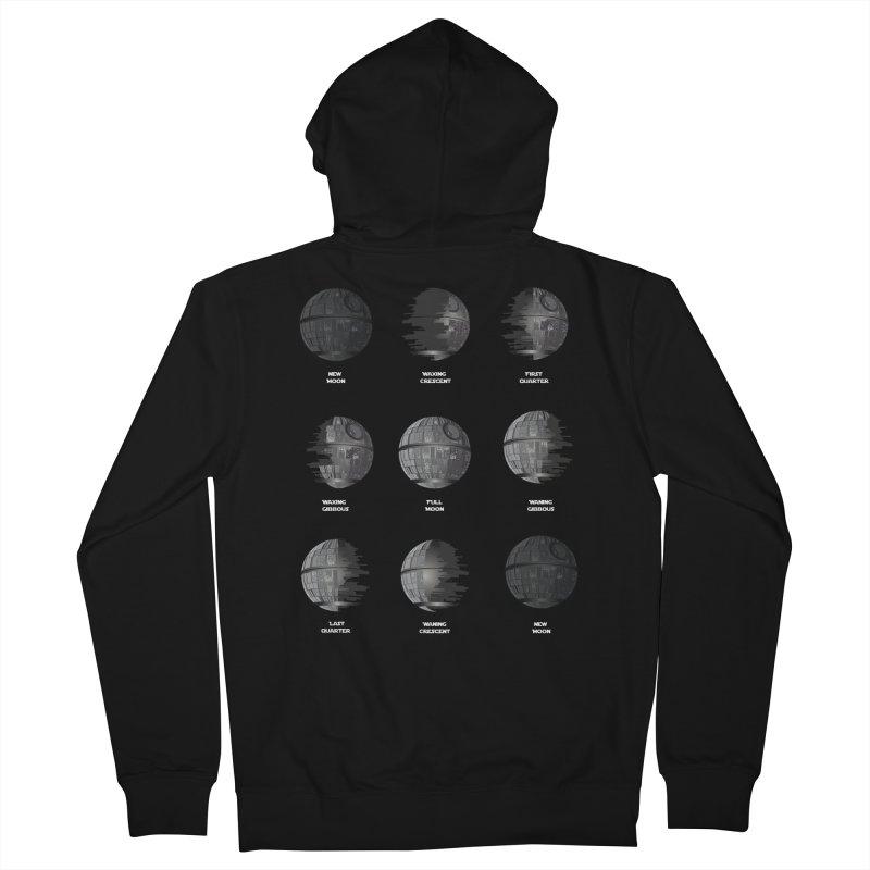 Dark Moon Phase Men's Zip-Up Hoody by Tentimeskarma