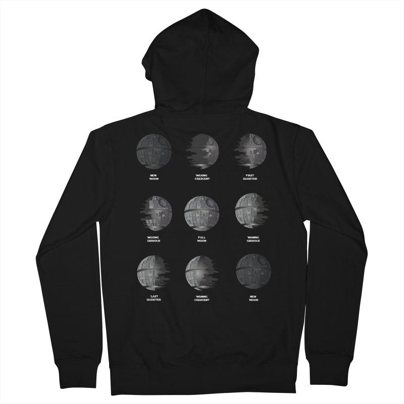 Dark Moon Phase Women's French Terry Zip-Up Hoody by Tentimeskarma