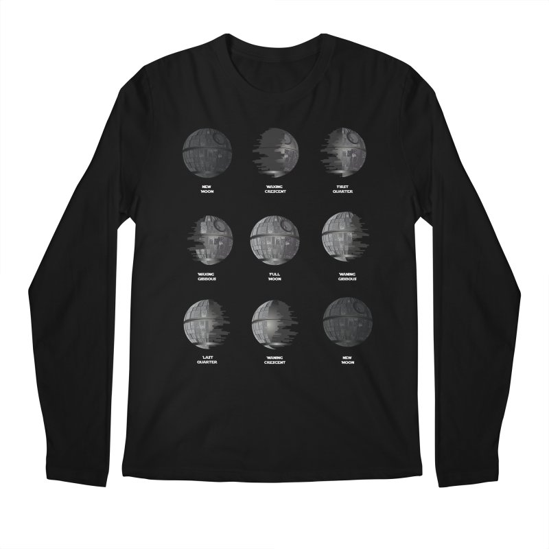 Dark Moon Phase Men's Regular Longsleeve T-Shirt by Tentimeskarma