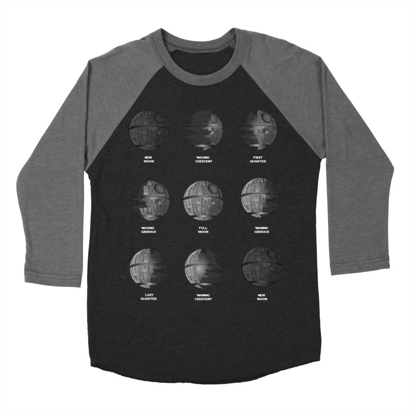 Dark Moon Phase Men's Baseball Triblend Longsleeve T-Shirt by Tentimeskarma