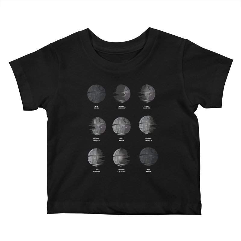 Dark Moon Phase Kids Baby T-Shirt by Tentimeskarma