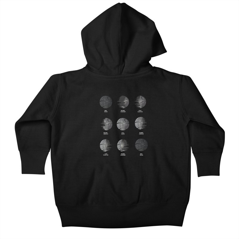 Dark Moon Phase Kids Baby Zip-Up Hoody by Tentimeskarma