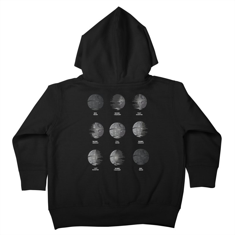 Dark Moon Phase Kids Toddler Zip-Up Hoody by Tentimeskarma