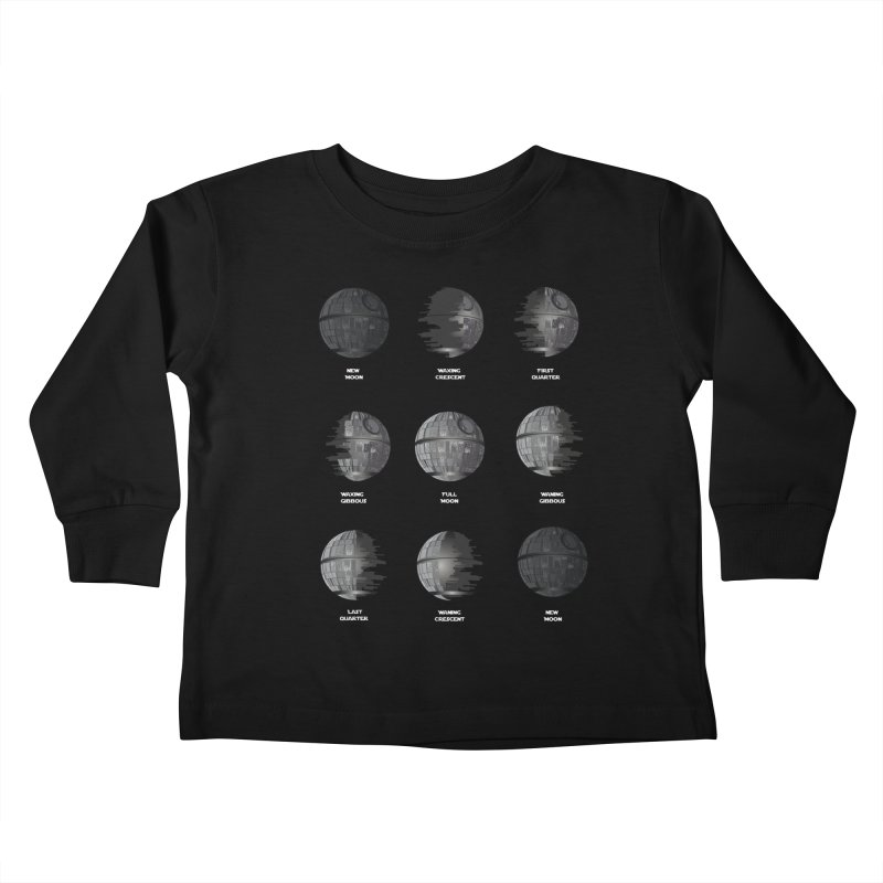 Dark Moon Phase Kids Toddler Longsleeve T-Shirt by Tentimeskarma