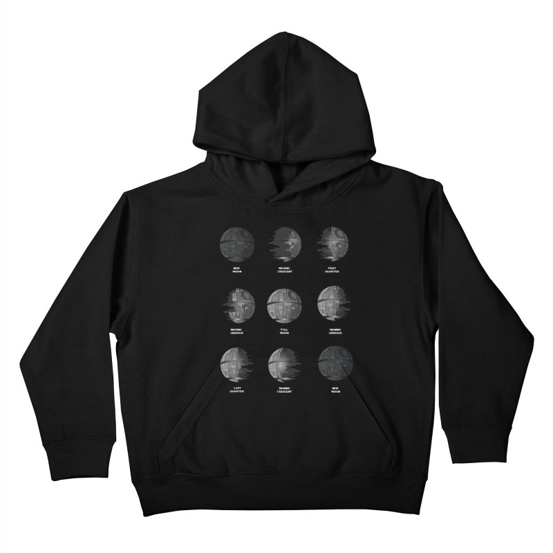 Dark Moon Phase Kids Pullover Hoody by Tentimeskarma