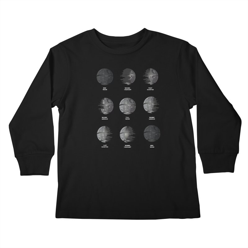 Dark Moon Phase Kids Longsleeve T-Shirt by Tentimeskarma