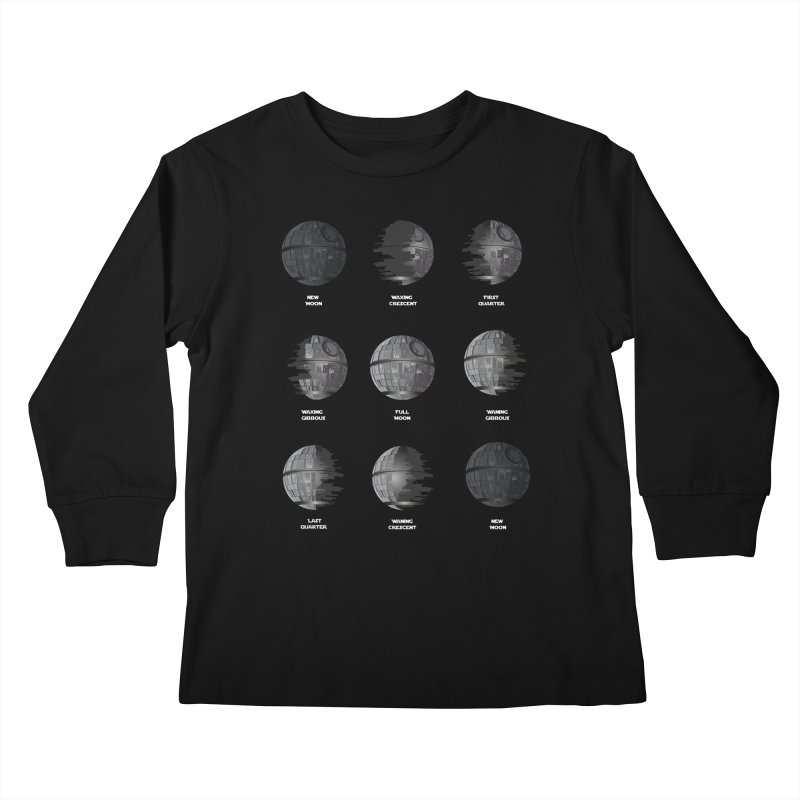 Dark Moon Phase Kids Longsleeve T-Shirt by Tentimeskarma