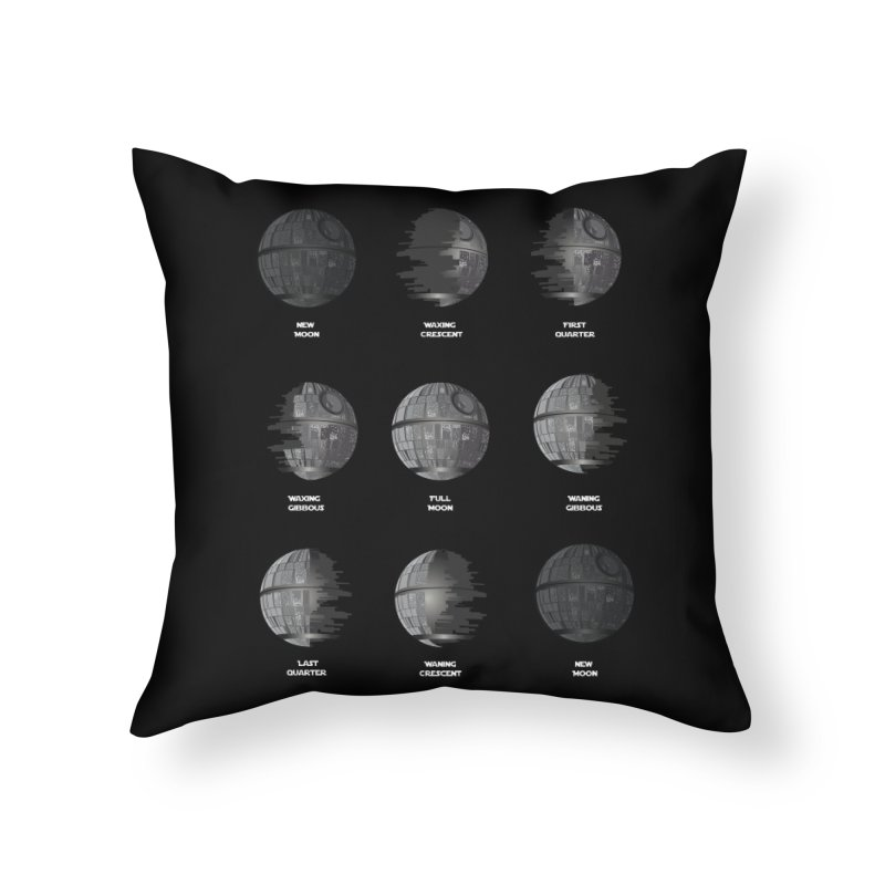 Dark Moon Phase Home Throw Pillow by Tentimeskarma