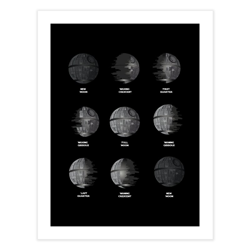 Dark Moon Phase Home Fine Art Print by Tentimeskarma
