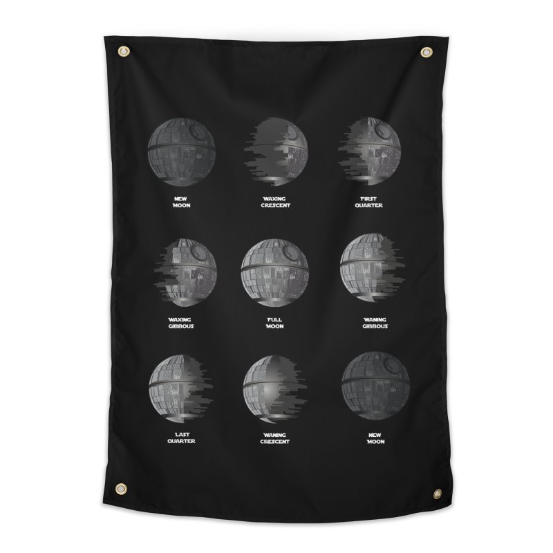 Dark Moon Phase Home Tapestry by Tentimeskarma