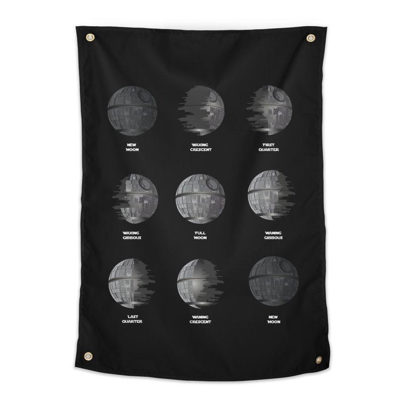 Dark Moon Phase Home Tapestry by Tentimeskarma